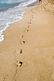 Etapas na areia Imagem de Stock