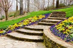 Etapas que conduzem para jardinar fotos de stock royalty free