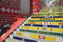 Etapas Rio de janeiro Brazil de Escadaria Selaron imagens de stock