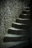 Etapas velhas do castelo Fotos de Stock Royalty Free