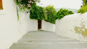 Etapas velhas que vão para baixo em Ibiza fotos de stock royalty free