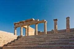 Etapp av den forntida akropolen Royaltyfri Bild