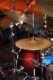 etapp för hög hihat för cymbalshatt live Arkivfoton