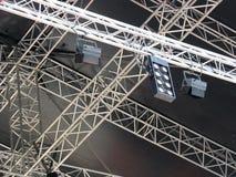 etapp för ljusa projektorer för utrustningexponering Arkivfoton