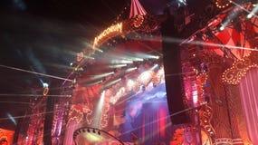 Etapp för musikfestival royaltyfria foton