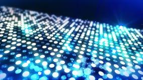 Etapp som t?nder bakgrund med effekt f?r m?nga ljus Abstrakt disko?glasanimering Gl?dande neonbelysning och en tom placering vektor illustrationer