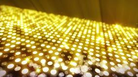 Etapp som t?nder bakgrund med effekt f?r m?nga ljus Abstrakt disko?glasanimering Gl?dande neonbelysning och en tom placering stock illustrationer