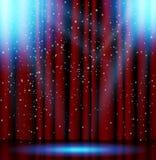 Etappbelysningbakgrund med strålkastareeffekter vektor illustrationer