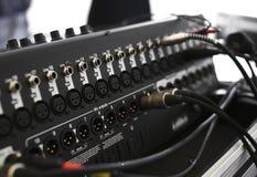 Etappbelysningsutrustning som monterar på en etapp Arkivfoto