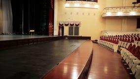 Etappen i teatern stock video