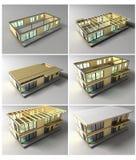 Etapper av konstruktion Arkivfoto
