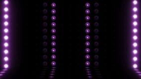 etappför horisontalscanning 4K för ljus kula 3d lilor för ÖGLA lager videofilmer