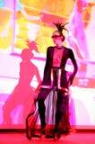 Etappkapaciteten av den exklusiva restaurangen dansarna för sommarslotten dansar showen av helhetgruppstilen Royaltyfria Bilder