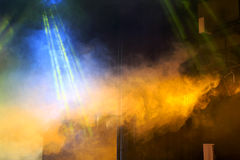 Etappljus och rök Royaltyfri Fotografi