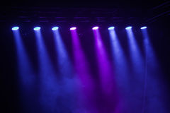 Etappljus på konsert Arkivbild
