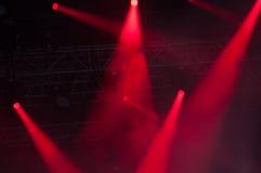 Etappljus på konsert Arkivbilder