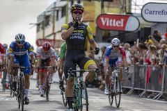 Etappvinnaren - Tour de France 2018 Royaltyfri Foto