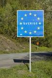 Etat membre d'UE de panneau routier Suède Photos libres de droits
