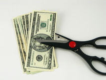 Etatverkürzungen und Steuern Lizenzfreie Stockfotografie