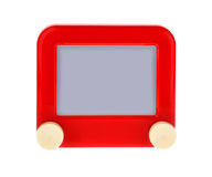 Etch A Message on a Red Sketch Board Stock Image