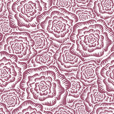 Etched Roses Seamless Pattern Royalty Free Stock Images