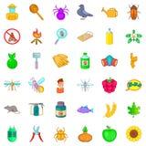 Etching icons set, cartoon style. Etching icons set. Cartoon style of 36 etching vector icons for web isolated on white background Royalty Free Stock Photo
