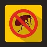 Etching insect icon, flat style Stock Photography
