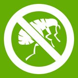 Etching insect icon green Royalty Free Stock Photos