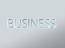 Etching of the word business Royalty Free Stock Photography