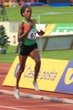Etenesh Diro - 3000 metres hurdles in Prague 2012 Royalty Free Stock Photography