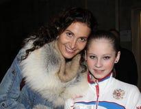 Eteri Tutberidze y Julia LIPNITSKAIA Imagen de archivo libre de regalías