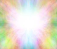 Eterisk läka ljus bakgrund för ängel Arkivfoto