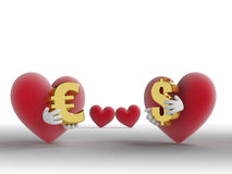 Eternal Alternative: Love For Money Or Love For Lo Stock Image