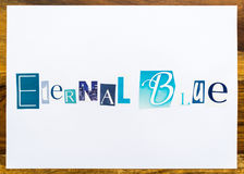 Eternal Blue - note on desk Royalty Free Stock Photography