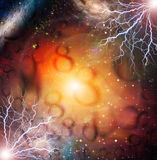 Eternal. Eternity Symbols and lightning with stars Royalty Free Stock Images