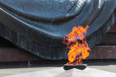 Eternal fire. The eternal flame at the Tomb of the Unknown Soldier in Alexander Garden (Moscow stock photos