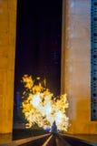 Eternal fire at dagustu park, Baku Stock Image