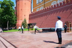 Eternal fire guards changing in Moscow, Russia Stock Photo
