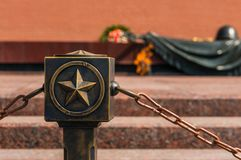 Eternal fire on the memorial of fallen soldiers in WW2, Moscow Royalty Free Stock Image