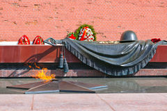 Eternal fire in memory of victims in the world war - Kremlin - M Royalty Free Stock Photos