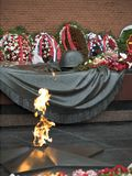 Eternal flame. The monument of Unknoun Soldier (Kremlin, Moscow, Russia stock photos
