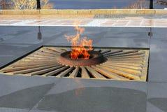 Eternal flame burning. Stock Photo