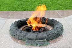 The eternal flame burns Stock Photography