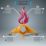 Eternal flame - business infographic. Vector eps 10 Stock Photos
