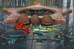 ETERNAL FLAME. Dedicated to victory World War II. Moscow region, Russia Royalty Free Stock Photography