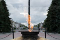 Eternal flame. Constantly burning fire, symbolizing eternal memory royalty free stock image