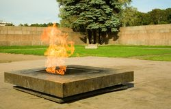 Eternal flame on the Field of Mars Stock Images