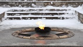 Eternal flame stock footage