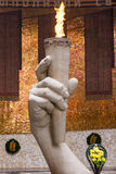 The eternal flame in the Hall of Military Glory historical memorial complex Royalty Free Stock Photography