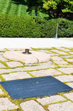 Eternal Flame at John F. Kennedy Grave Site at Arlington Cemetery Stock Photo